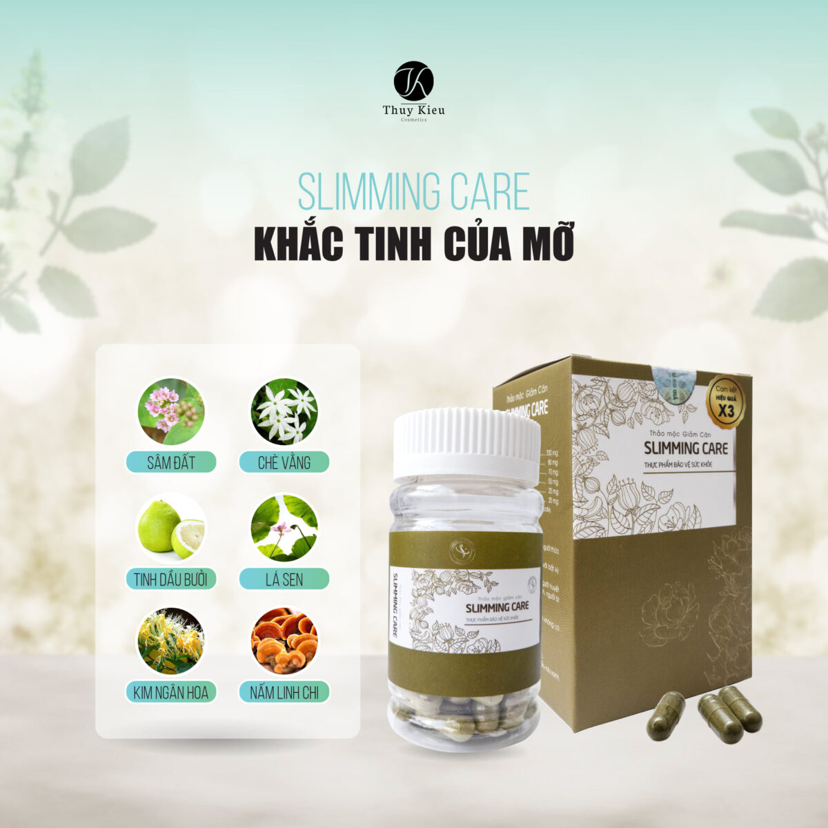 Cong Dung Vien Giam Can Slimming Care X3 Thao Moc